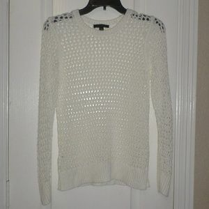 Ann Taylor White Pullover Sweater Sz S
